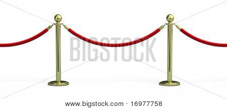 Seamless Rope barrier on white background