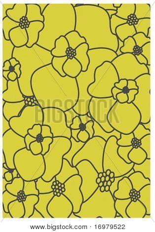 Vintage floral padrão sem emenda. Vector.