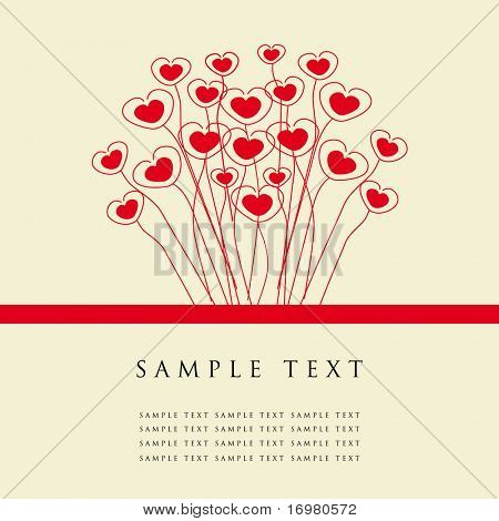 Valentine`s heart card.Vector illustration.