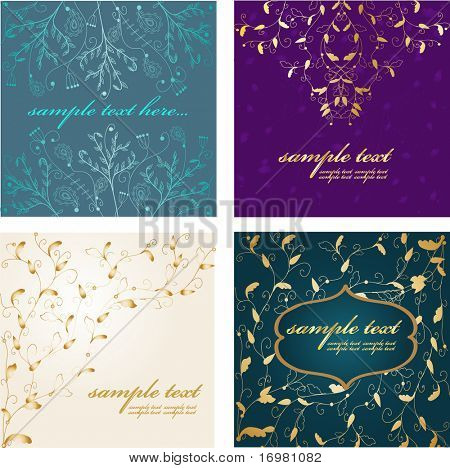 Abstract luxury backgrouds set. Vector.