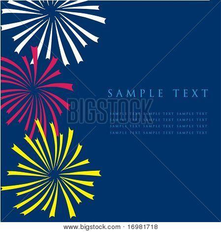 Fogos de artifício. Design para o cartão.
