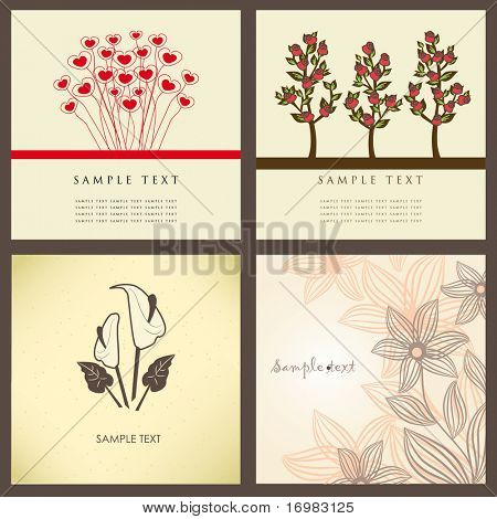 Vintage greeting cards set