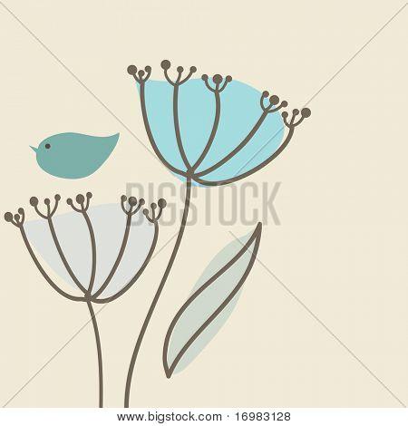 Cute bird on the flower