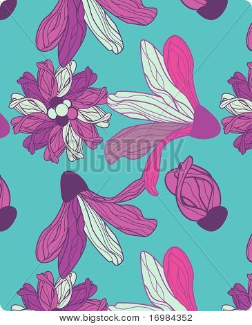Seamless pattern with abstract calla lily