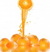 stock photo of orange-juice  - fresh orange juice - JPG