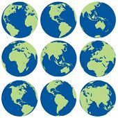 stock photo of world-globe  - vector globes - JPG