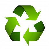 picture of reuse  - vector recycle symbol - JPG