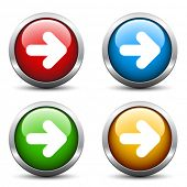 stock photo of orientation  - Vector arrow buttons - JPG