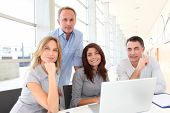 foto of people work  - Group of business people in a work meeting - JPG