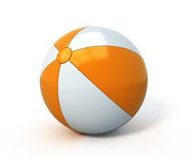 image of beach-ball  - Beach ball isolated - JPG