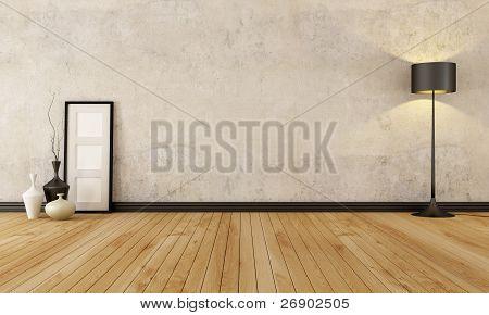 Grunge vacío Interior