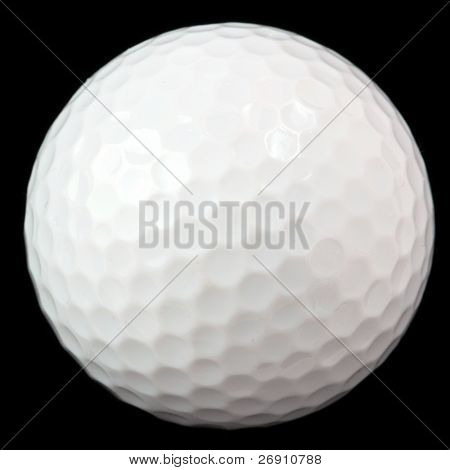 golf ball isolated on black