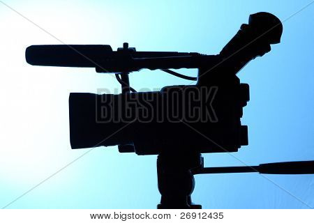 silhouette of full HD camcorder