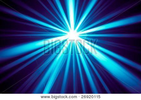 raios de disco azuis