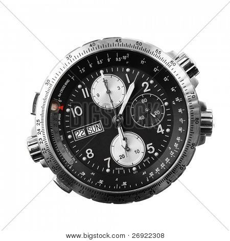 chronograph isolated on white