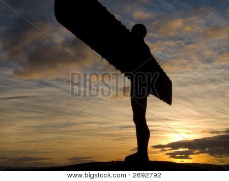 Angel Of The North, Autumn Sunset