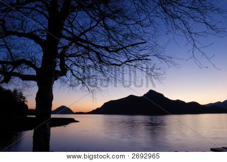 Sunset At Porteau Cove Provincial Park, British Columbia