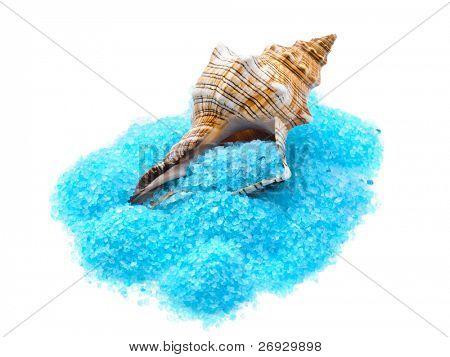 toning sea crystals and shell