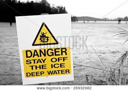 Dangerous frozen lake
