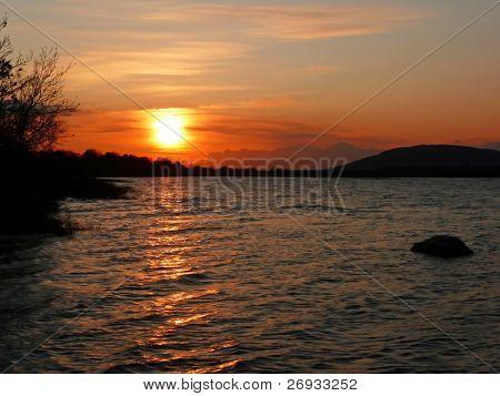 Sunset over Burren
