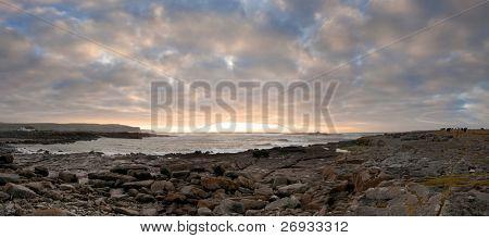 Doolin sunset panoramic
