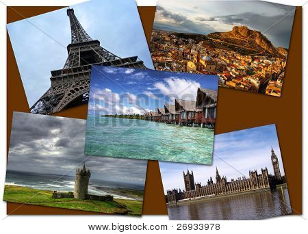 Postcard of landmarks - all pictures from my gallery