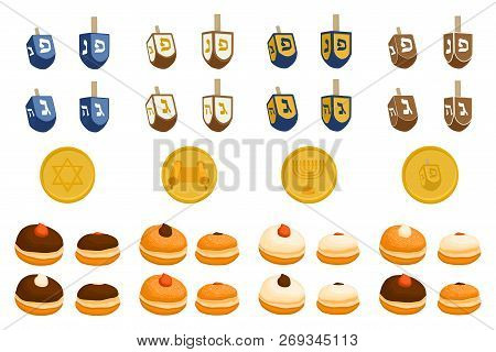 Vector Illustration For Hanukkah Is