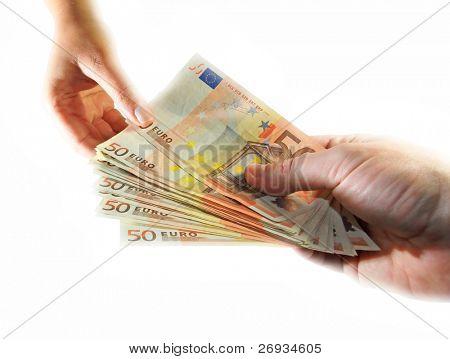 Euro money transaction