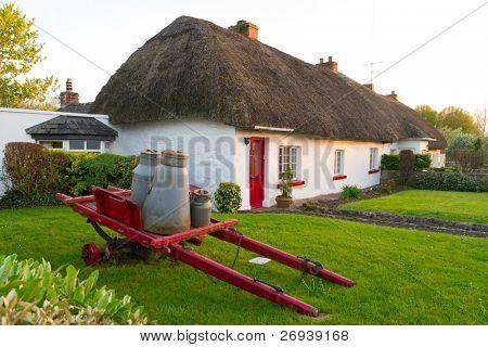 Irish traditional cottage houses
