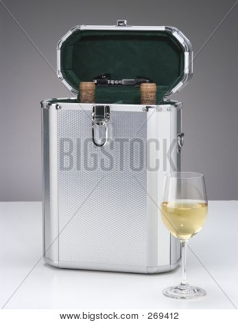 Metal Wine Case