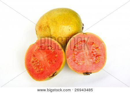 Guavas -whole and halved