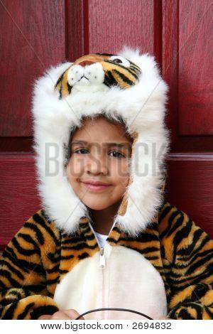 Girl In Halloween Costume