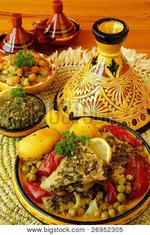 Tajine de pescado marroquí chermoula