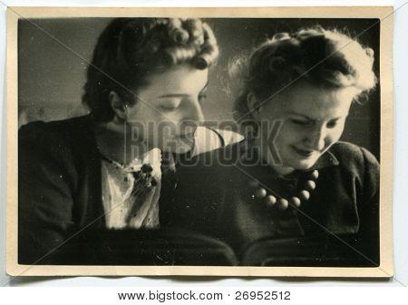 Vintage portrait of two women