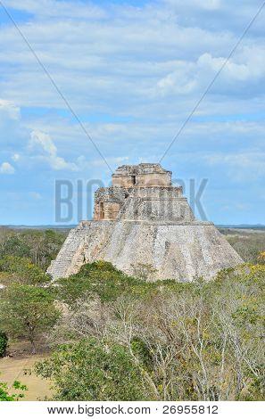 Uxmal, Mexico - Mayan ruins (Pyramid of Magician)
