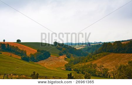 Hills in the autumn
