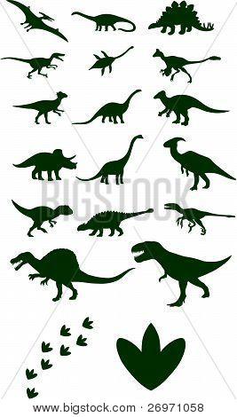 Seleção do vetor de dinossauro