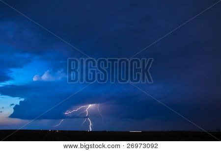 Thunderstorm in the evening