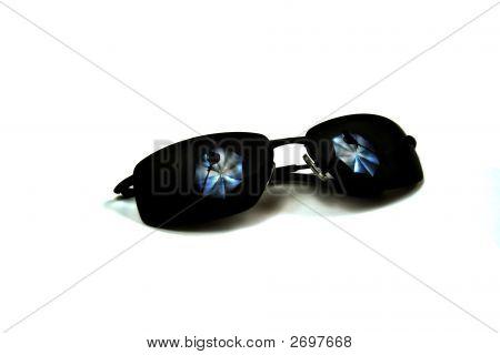 Sunglasses With Studio Lighting Reflection