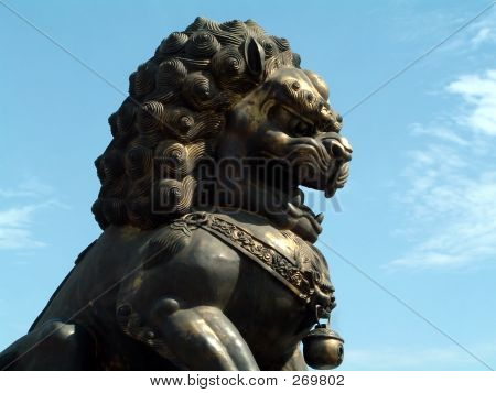 Statue Of Chinese Lion