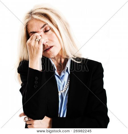 Portrait of a mature stressed woman