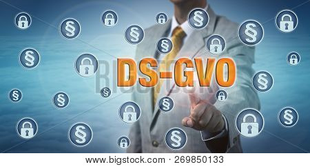 Male Legislator Highlighting Dsgvo Amidst