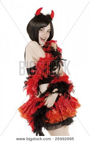Image of beautiful girl in fancy dress