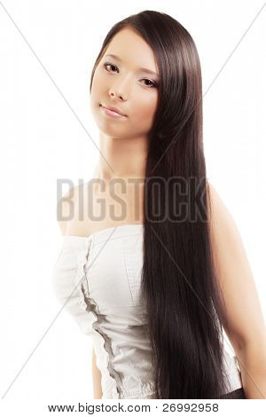 The image of a woman with a luxurious, shiny and beautiful hair