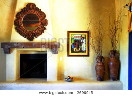 Adobe Fire Place