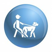 Blind Man Dog Pet Icon. Simple Illustration Of Blind Man Dog Pet Vector Icon For Web Design Isolated poster