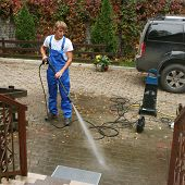 stock photo of pressure-wash  - professional cleaning - JPG