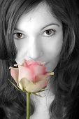Smelling A Rose