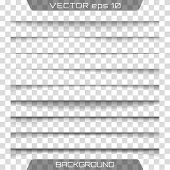 Vector Shadows Isolated. Transparent Realistic Paper Shadow Effect Set. Page Divider With Transparen poster