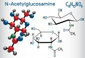N-acetylglucosamine (nag) Molecule, Is The Monomeric Unit Of The Chitin And Polymerized With Glucuro poster